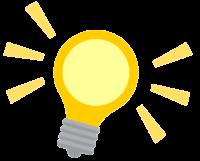 Homeoffice - Glühbirne - Idee